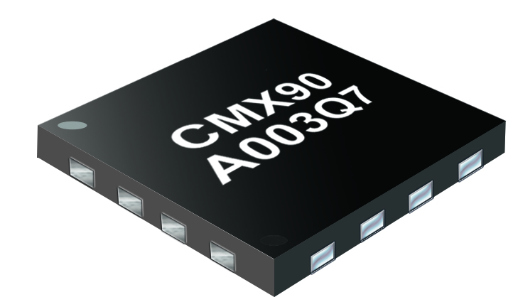 Chip pic of the CMX90A003 1W Power Amplifier
